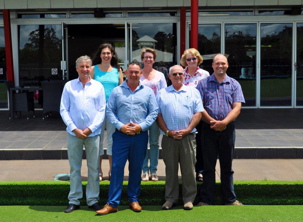 NEW LIFE: The Highfields Community Church team (back from left) Karin Bailey, Majella Bathurst, Lyn Ward and (front, from left) Peter Swinney, Marius Kruger, Alan Ward and Hendrik Botha.