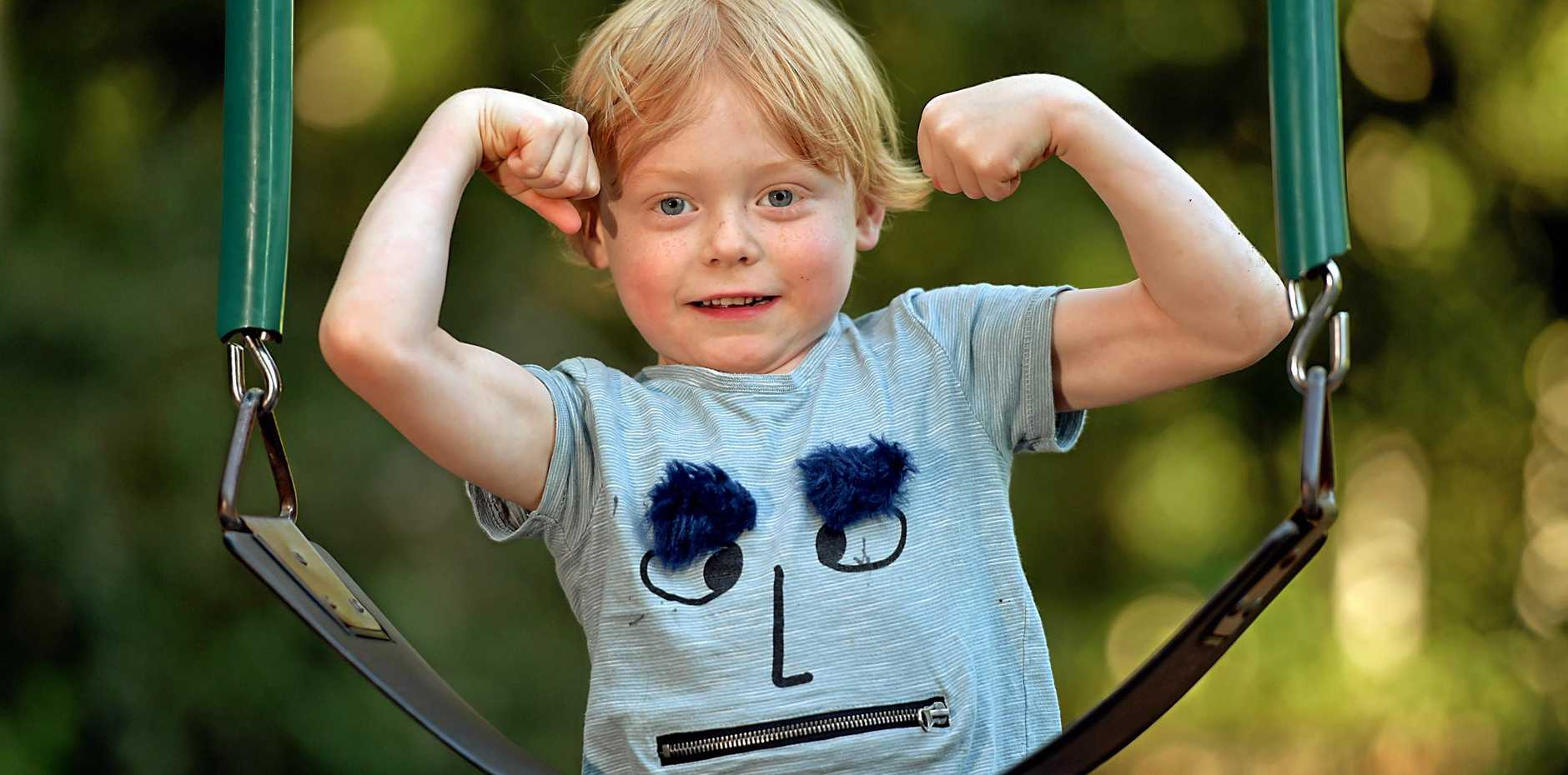 Five-year-old Eli Jeffcoat has recovered from having a tumour removed from his stomach. He wants you to donate to the Channel Nine Telethon that supports the Children's Hospital Foundation.