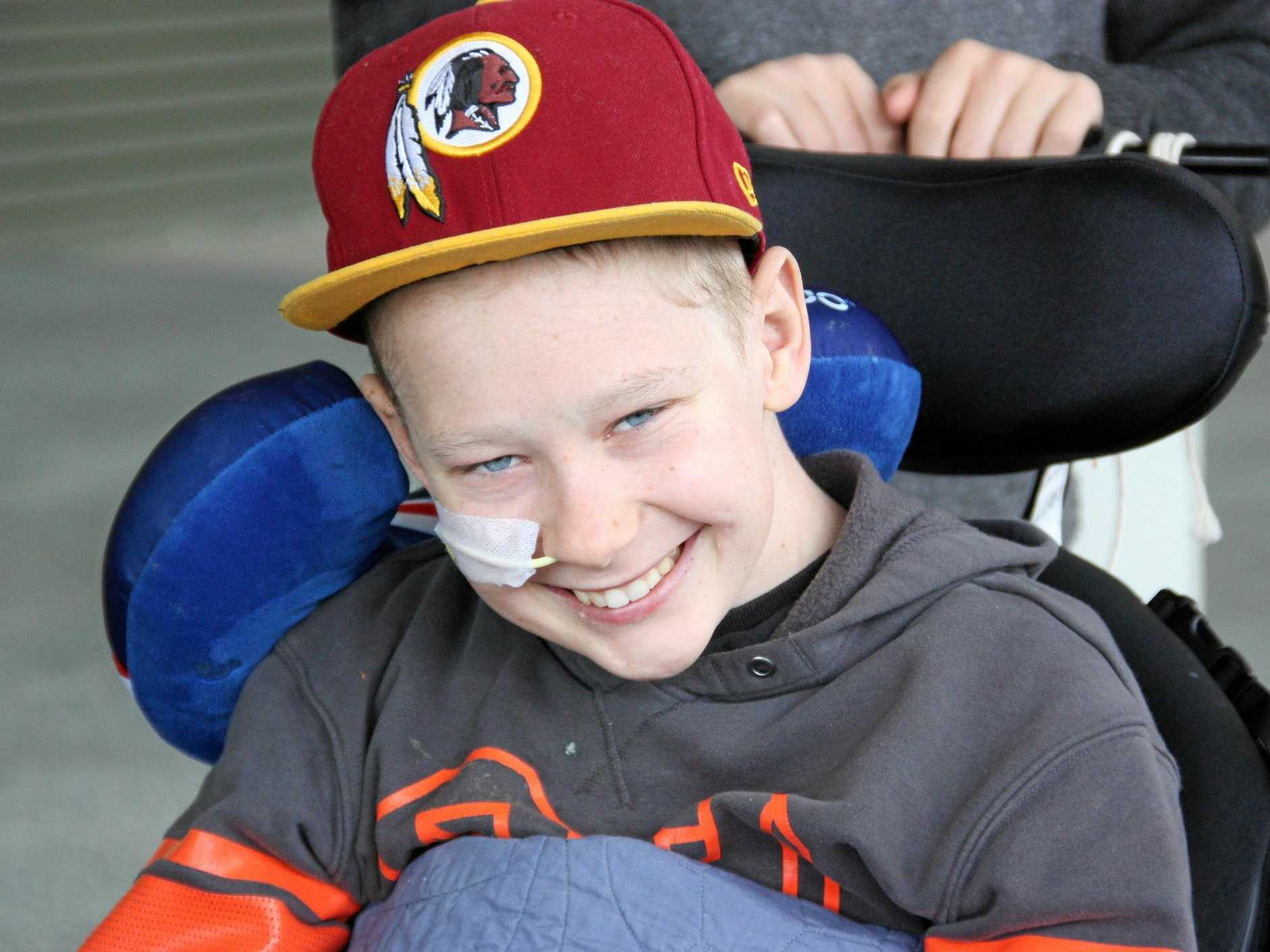Lachlan Coghlan refuses to let a brain tumour get in the way of living life to the full.