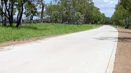 The new section of Nine Mile Road near Alton Downs that Rockhampton Regional Council have been working on for the past few months.