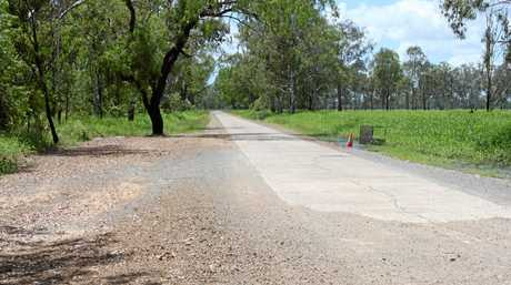 MUCH-NEEDED REPAIR: The old Nine Mile Road which showed what motorists travelled on for decades.