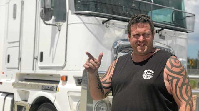 FRIENDLY GESTURE: Doug Kirby is starting simple initiatives to bring back positivity and mateship in the road transport industry.