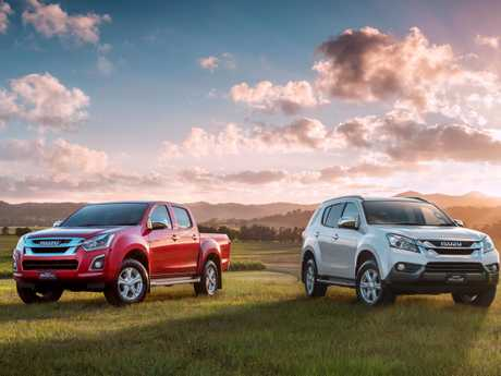 The Isuzu D-MAX and MU-X