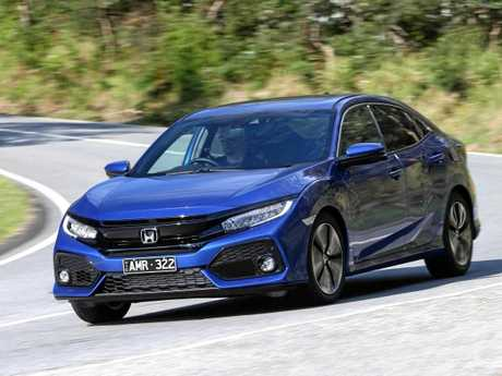 The range-topping Honda Civic VTi-LX.