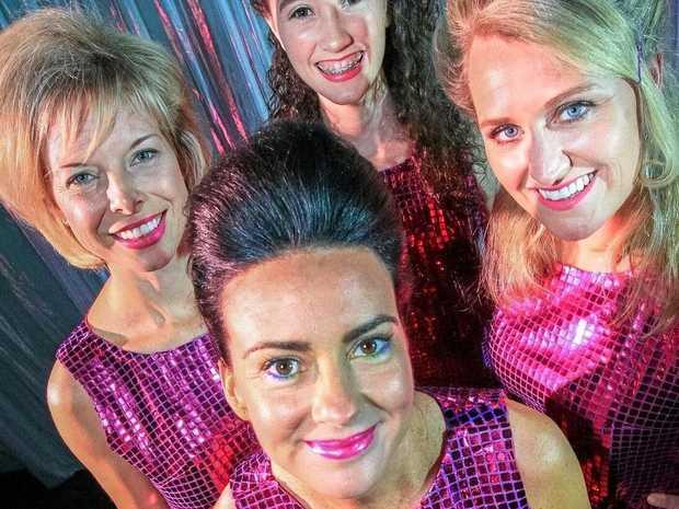 DREAMY: Cast members Deborah Ellison, Samantha Prosser, Emily Potts and Melanie Flynn.