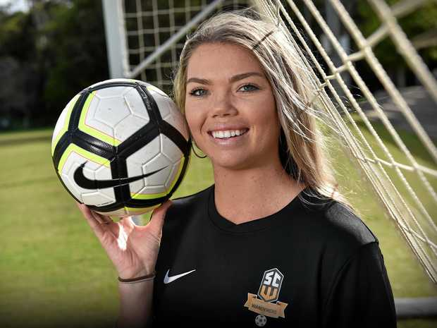 KEY RECRUIT: Samara Christmas has linked with the Sunshine Coast Wanderers women's side, which will play in an expanded state league.