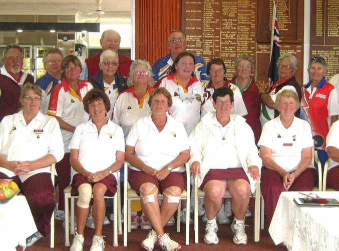 Some of the Burnett District bowlers that recently visited the Darling Downs.