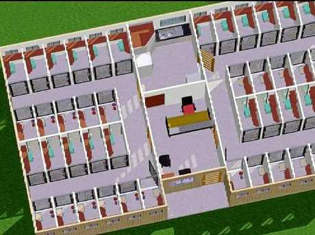 CAT RETREAT: Draft designs of the accommodation area for the proposed cat retreat in Tinana South.
