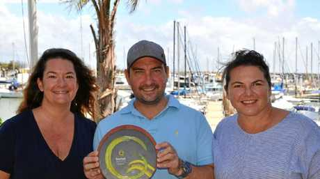 Customer Service Supervisor at Keppel Bay Marina Sharon Spelling, Executive Chef at The Waterline Restaurant Matt Smith, General Manager Keppel Bay Marina Kylie Smith.