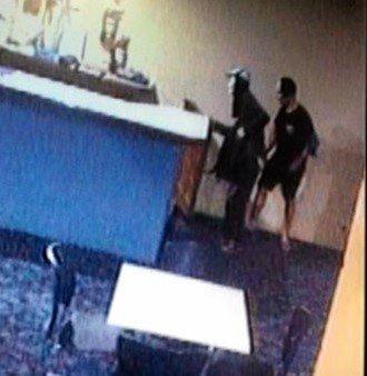 CCTV image taken during course of burglary