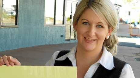 Rebecca Trott from Pat O'Driscoll realestate. Photo Austin King / The Morning Bulletin