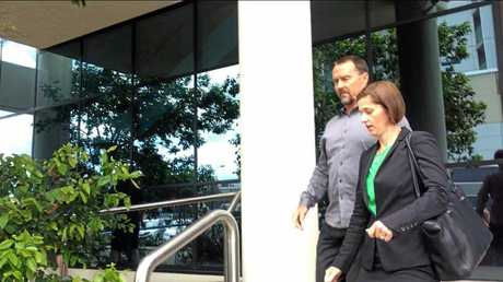 Scott Volkers leaving the Maroochydore Courthouse. Volkers is charged with five counts of indecent treatment of a child.