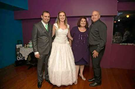 Peter Fogarty and fiancee Kathy Rex with Kathy's daughter Elizabeth and husband Michael.