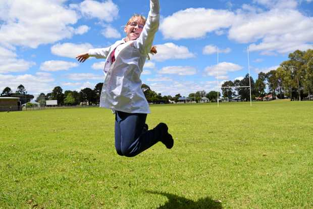 Jasmine Eldridge was literally jumping for joy after being named winner of a national Origin Energy competition.