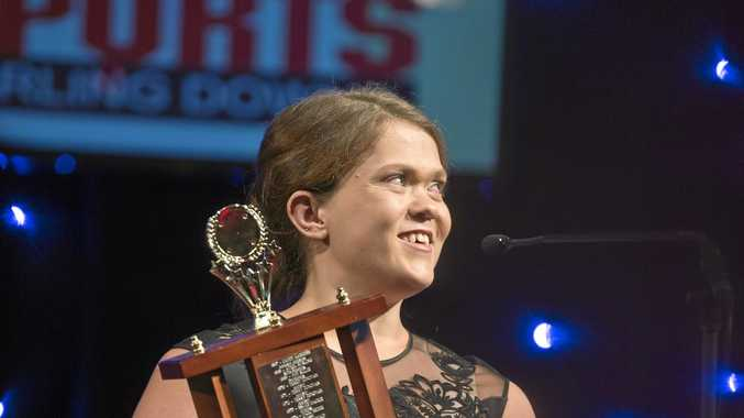 WINNER: Paralympian Claire Keefer celebrates being named 2016 Sports Darling Downs Senior Sport Star of the Year at the Sports Darling Downs awards night earlier this year.