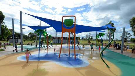 The official opening of the Cedric Archer water park in Gracemere.