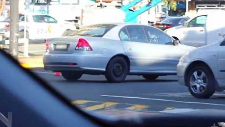 Officers eyed off Richard Palmer as his vehicle approached Parramatta McDonald's. Picture: Channel 7
