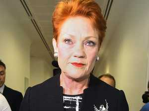 Pauline Hanson was disappointed in Fraser Anning, even before he quit. Picture: Kym Smith