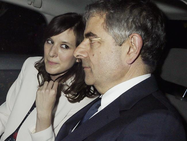 Rowan Atkinson, 62, is set to be a father for the third time with partner Louise Ford. Picture: Splash News Australia