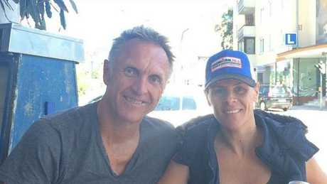 Neil Brooks and his wife.