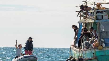 A scene from the Queensland-filmed TV series Safe Harbour.