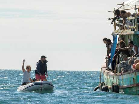 A scene from the Queensland-filmed TV series Safe Harbour.