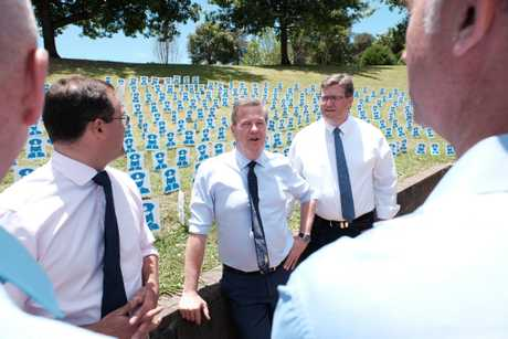 Tim Nicholls visits Queens Park on Tuesday, November 14, to announce increased police numbers under a future LNP government.