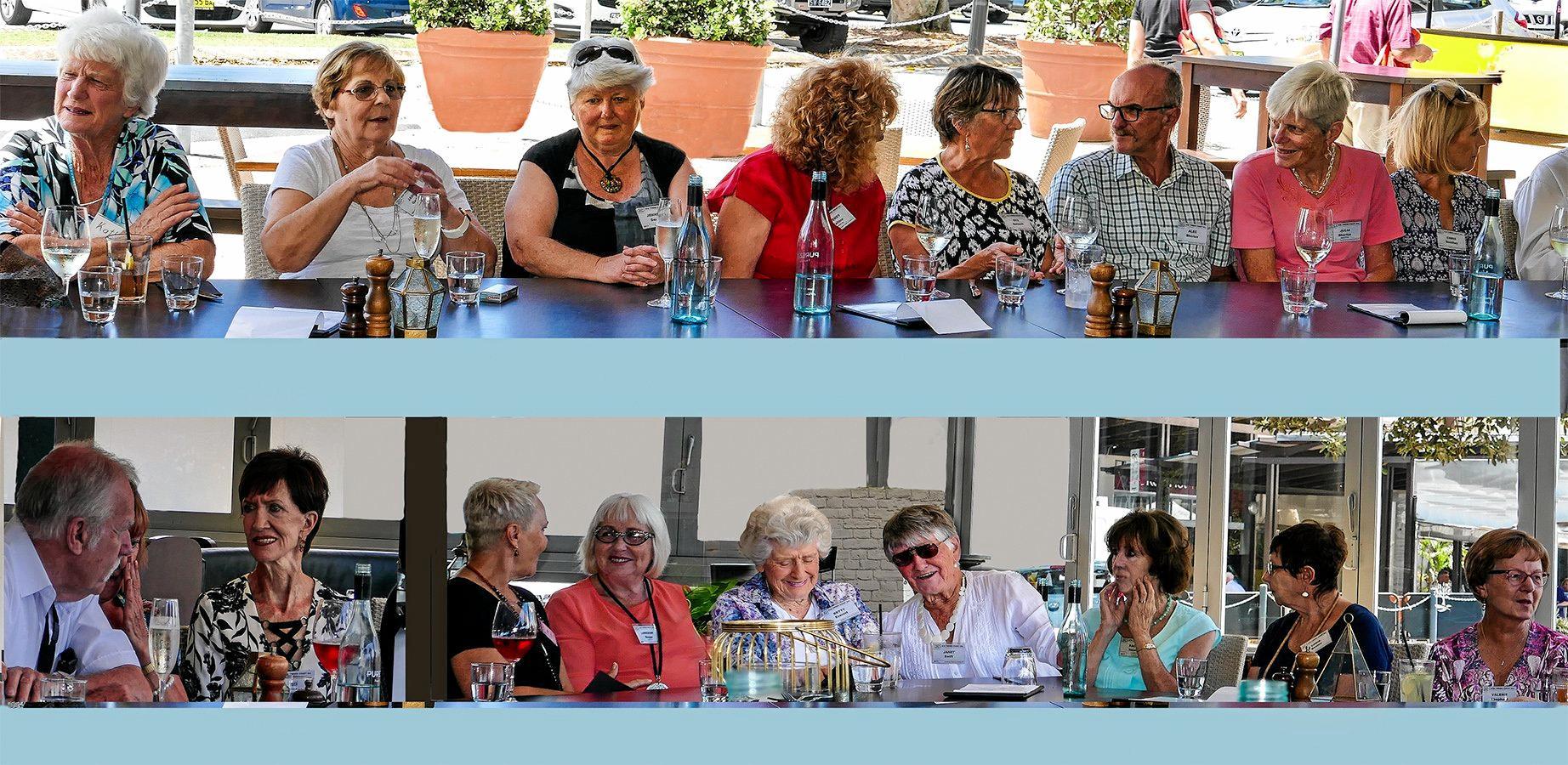 U3A Tweed Coast's wonderful group leaders enjoying lunch recently.