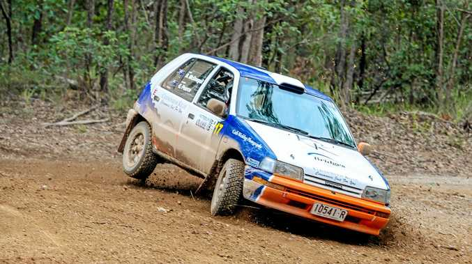 The Daihatsu Charade of Bruce McDougall and Kellie Pearce will be bearing the number 123.