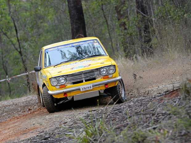 Mal Keough and Pip Bennett will have their Datsun 1600 roaring around the forest roads this weekend.