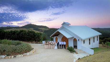 Jessica Wilmot and Adrian Jannenga celebrated their wedding with 70 guests at the Gold Coast Hinterland.