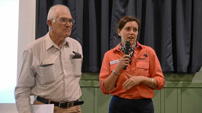 Alan Broome and Kristy Frahm at the Agriculture Forum on August 2.