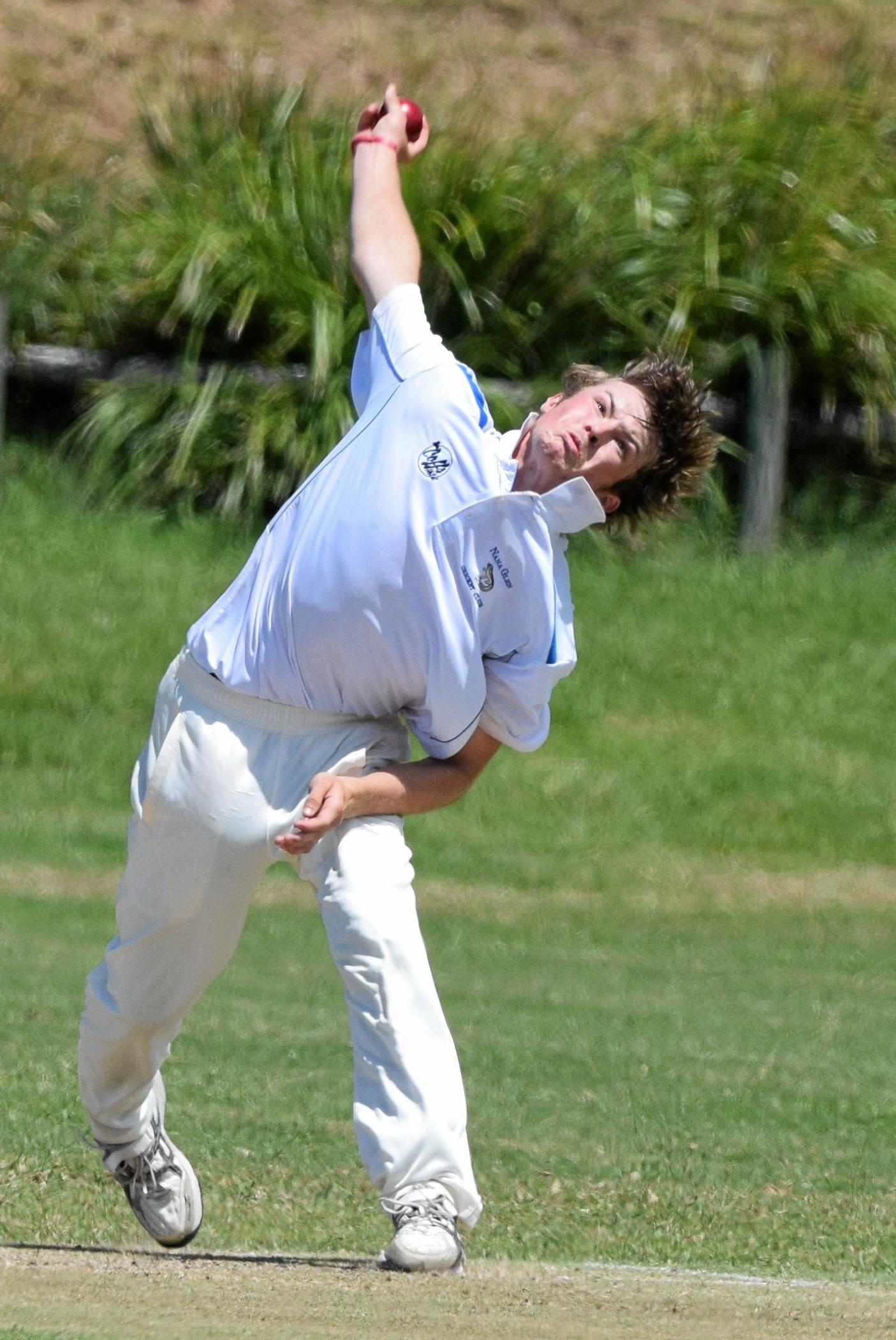 RIPPED IN: Josh Bartlett claimed four late wickets to put Nana Glen in a strong position against Sawtell in the CHDCA grand final replay.