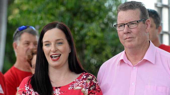 NOT IMPRESSED: Member for Keppel Brittany Lauga and Rockhampton Labor candidate Barry O'Rourke are convinced the LNP's and One Nation's preference deal was bad news for CQ.