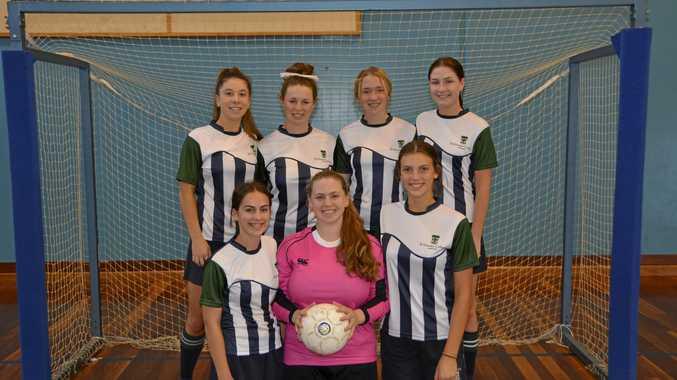 The Ursie Ninjas (back from left) Claudia Maiore, Portia Sloss, Chloe Hutton, Kristen Siebuhr and (front) Zoe Doyle, Sarah Bradbury (captain) and Amy Jocumsen.