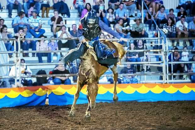 RIDING HIGH: Wattles Rodeo action was at Allora last year but will be at Clifton this Saturday.