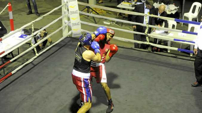 NO CONTACT: Grafton boxer Sam McKechnie parries away a punch during his debut bout.