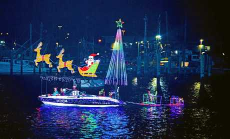 BOATS LIGHT UP: Mooloolaba canals will light up for the Christmas boat parade.