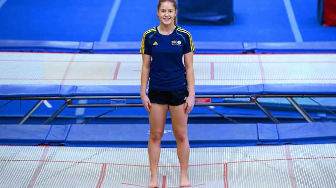 RISING STAR: Rockhampton trampolinist Britney Glazebrook is currently training in Bulgaria in preparation for the world age group competition.