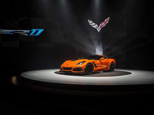 The launch of the 2019 Chevrolet Corvette.