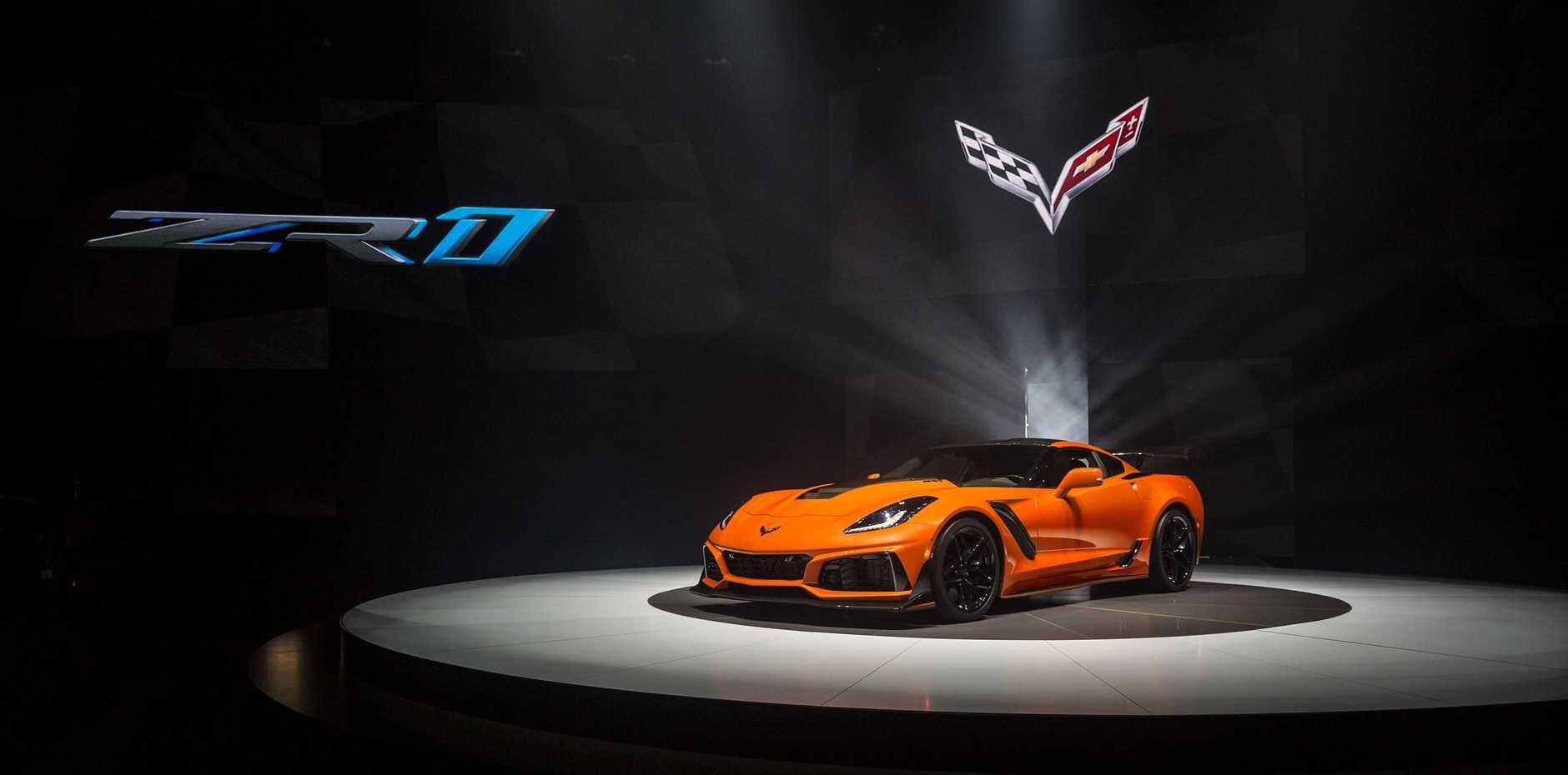 The launch of the 2019 Chevrolet Corvette.