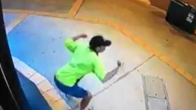 A man did squats before forcing his way into a gym overnight.