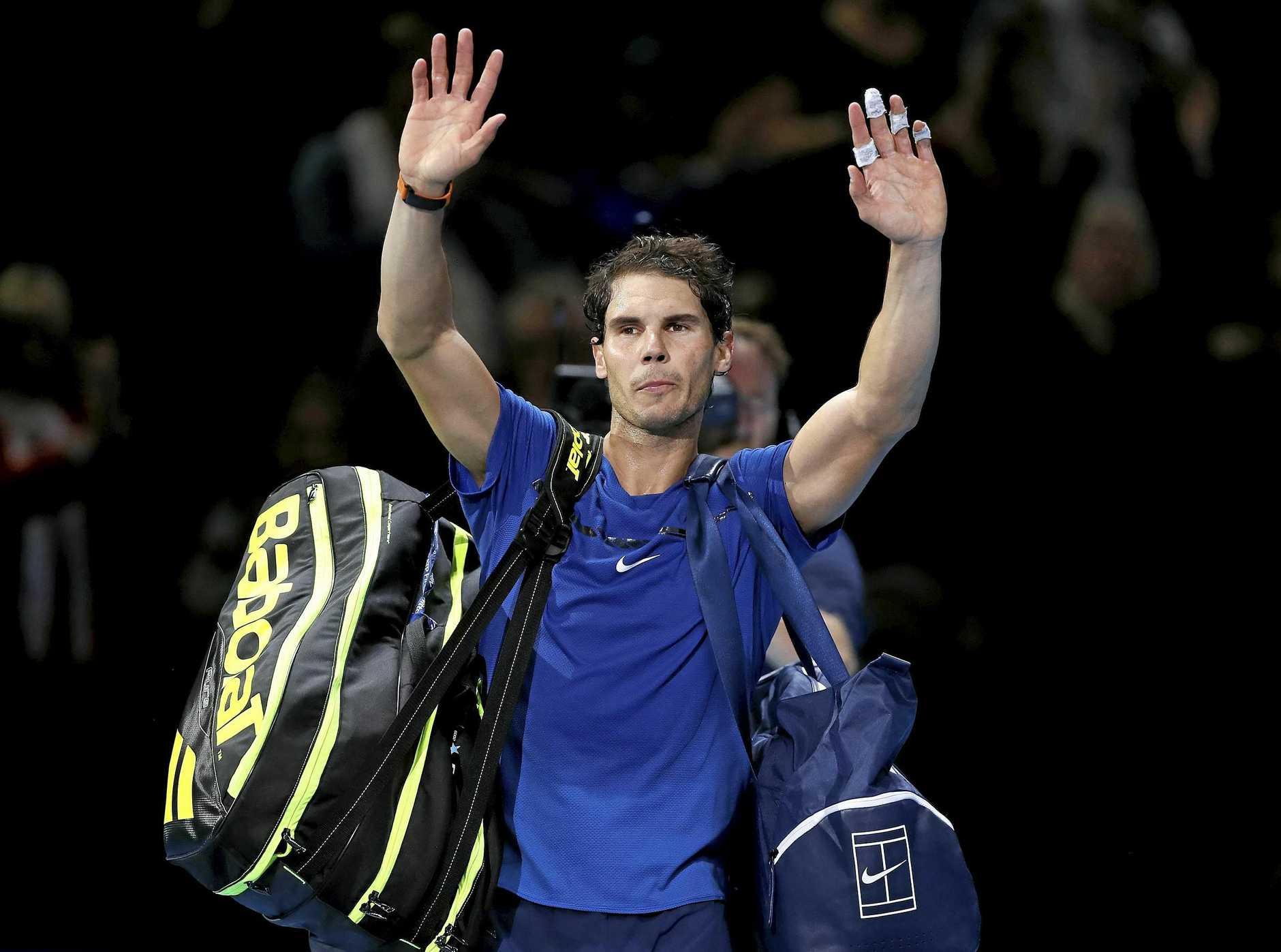 Spain's Rafael Nadal's season is over because of a knee injury