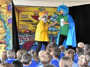Live comedy teaches children about water use
