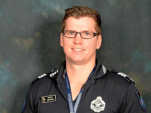 LIFE SAVER: Sergeant Josh White saved the life of an elderly man at Brisbane Airport.