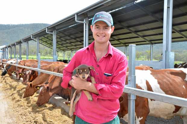 HOME AGAIN: Kieran Bourke is happy to be back on the family farm at Gladfield.