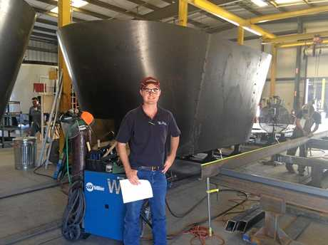 Kieran Bourke visited a feed mixer manufacturing plant in California during a recent five-month working holiday through the United States and Canada.
