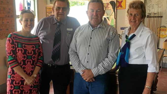 ROAD FUNDING: Mayor Rachel Chambers, Councillor Paul Lobegeier, LNP Candidate for Callide Colin Boyce and deputy mayor Faye Whelan at Mulgildie.