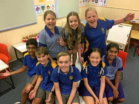Back:  Caitlin Blinman, Isabella Mitchell and Sophie RoweFront: Pratham Shah, Bailey Chard, Liam Mitchell,  Anneka Carlson and Shaandeep Singh