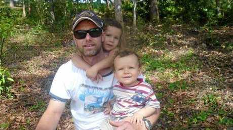Gerrard Radosevich with his children Chloe and Jayden.
